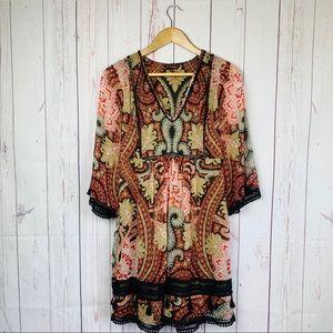 Ranna Gill Anthropologie Milena Boho Tunic Dress